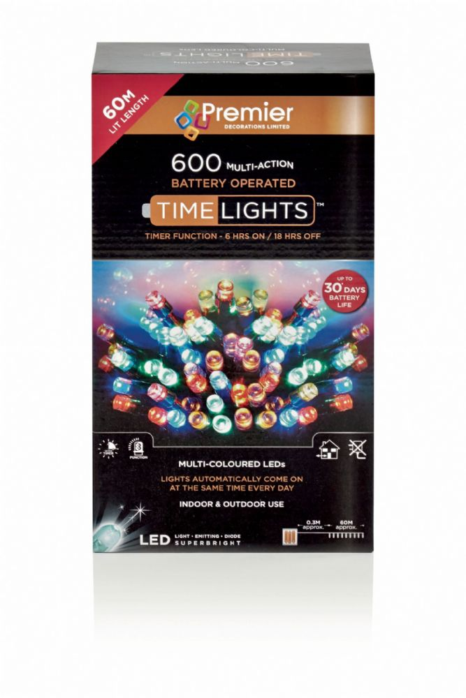 600 Multi Action Battery Operated Led Lights